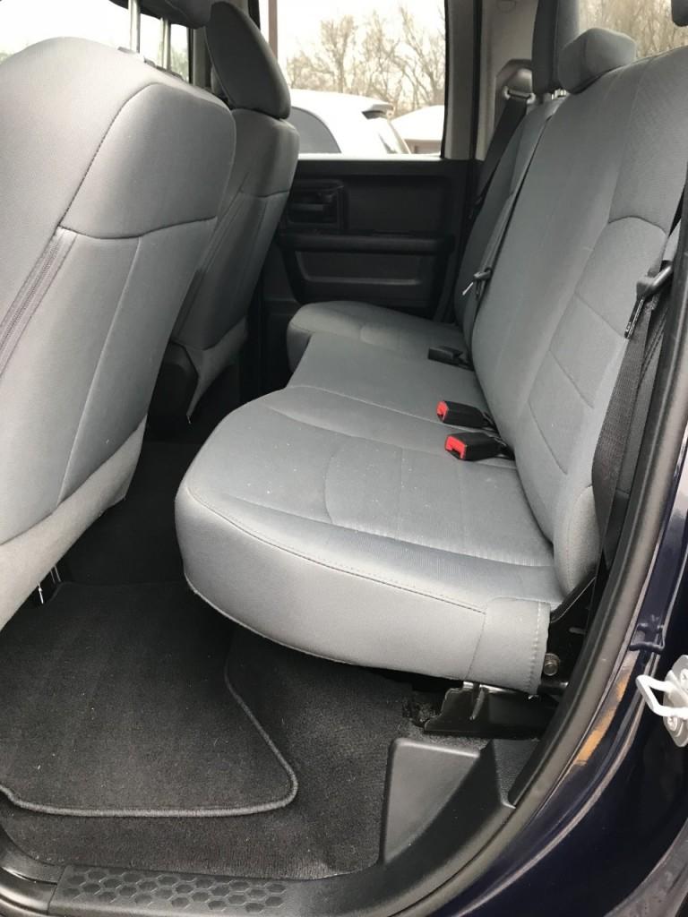 2017 Dodge Ram Quad Cab Interior Rear Seat View