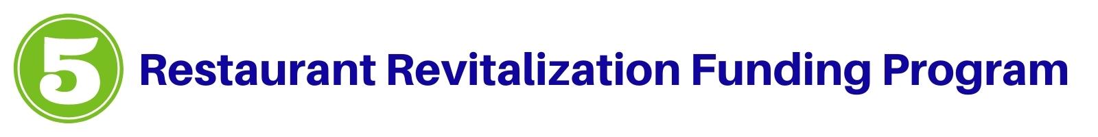The number 5 Restaurant Revitalization Program label